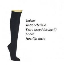 Bamboe kniekousen - Unisex - Zwart (3 paar)