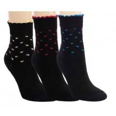 Bamboe sokken met golfrand (3 paar)