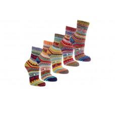 """Dames sokken """"Hygge"""" - Scandinavisch kleurrijk design - Dikke, verwarmende kwaliteit"""