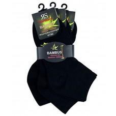 Korte bamboe sokken - Zwart - Set van 3 paar