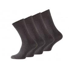 Sokken zonder knellend elastiek - Antraciet (4 pack)