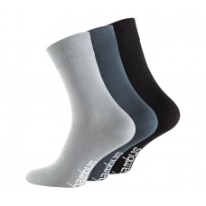 Vincent Creation® Bamboe sokken (set grijs, blauw en zwart) (3 paar)