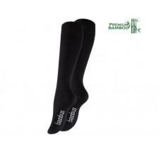 Vincent Creation® Unisex Bamboe kniekousen (2 paar) - Zwart
