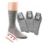 100% Wollen sokken met badstof zool