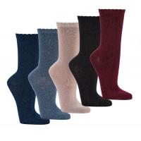 """Zwarte bamboe sokken """"Glamour"""""""