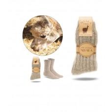 Unisex sokken van fijne wol - 100%  van alpaca en schapenwol