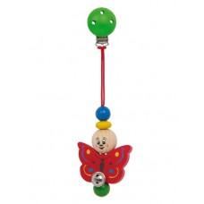 Houten baby-clip - Vlinder